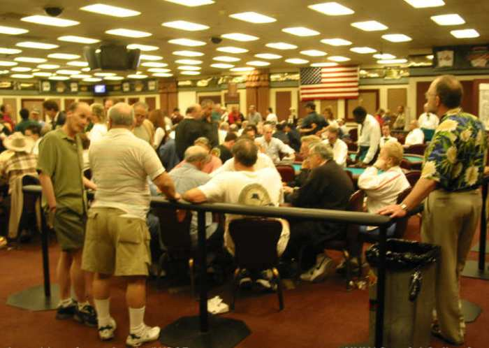 big stack in a poker tournament