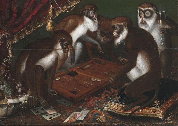 """""""Affengesellschaft beim Spiel"""""""