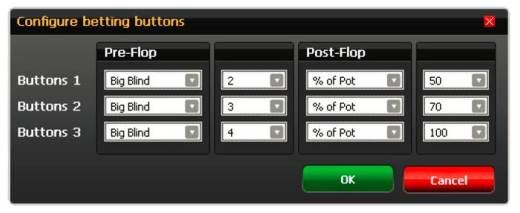 Configurable Betting Buttons