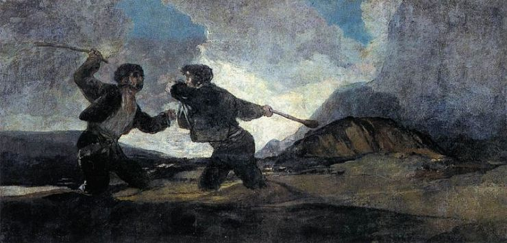 """Duel with Cudgels"" by Francisco Goya"