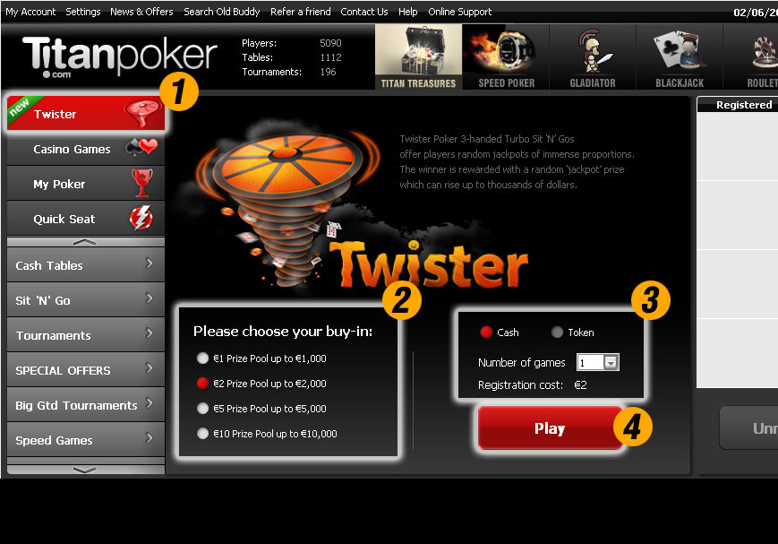 Twister Poker Infographic