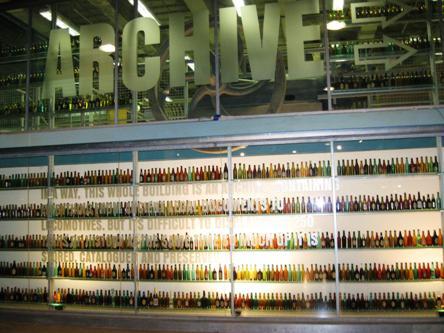 Guinness Storehouse Bottle Display