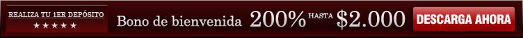 200% hasta 1.500€ de bono de bienvenida