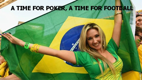 a time for poker, a time for football