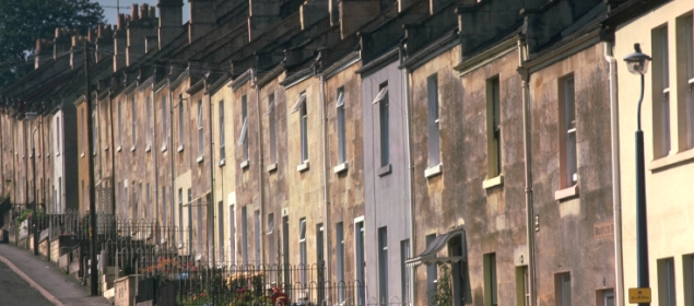 British terraced houses