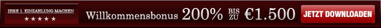 200% bis zu 1.500€ Willkommensbonus