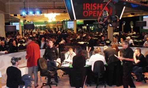 Les joueurs dans le hall de l'Irish Open 2009