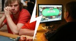 online vs live poker player
