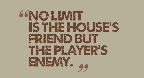 no limit is the player's enemy