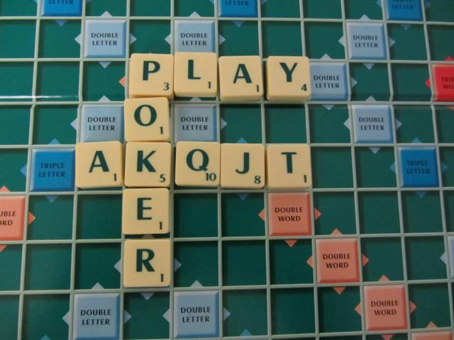 scrabble and poker