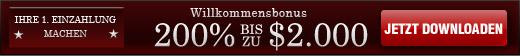 200% bis zu $2.000 Willkommensbonus