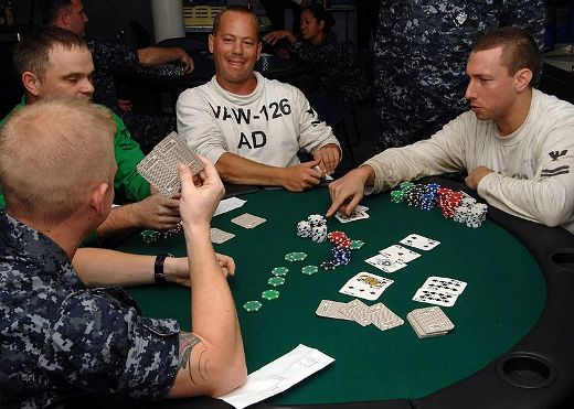 Sailors play poker