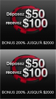 Déposez $50 recevez $100