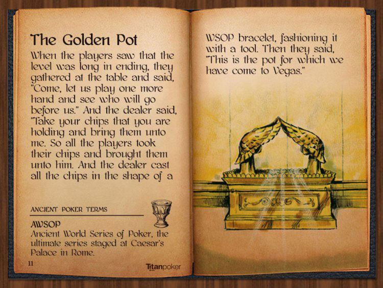 titan poker bible the golden pot