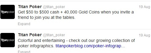 Titan Poker tweets