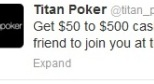 Titan Poker на Twitter