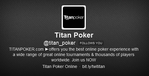Titan Poker Twitter