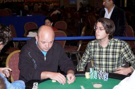 Igor Kurganov Titan Poker chip leader on right