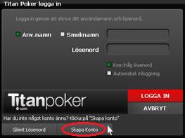 Titan Poker skapa konto