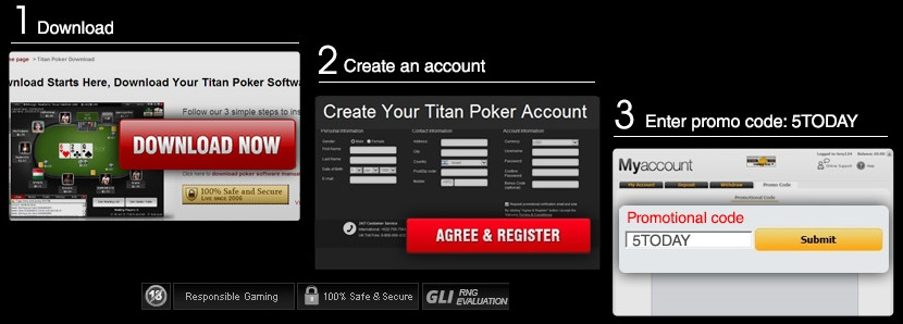 titan poker offers $5 free cash no deposit
